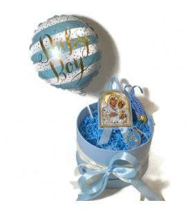 Ασημένιο Σετ δώρου για νεογέννητο για αγόρι 0403