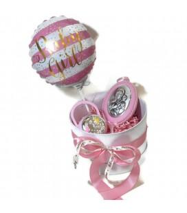 Ασημένιο Σετ δώρου για νεογέννητο για κορίτσι 0398