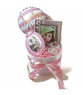 Ασημένιο Σετ δώρου για νεογέννητο για κορίτσι 0428