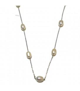 Κολιέ με μαργαριτάρια από ασήμι 925