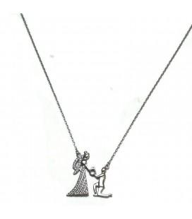 Κολιέ ζευγάρι πρόταση γάμου από ασήμι 925