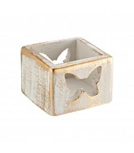 Μπομπονιέρα κεραμικό κηροπήγιο για ρεσώ πεταλούδα MPOG46581