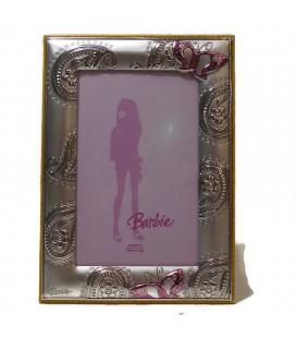Ασημένια Κορνίζα Barbie με πεταλούδα 6Χ9