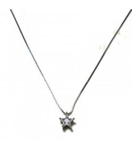Κολιέ αστέρι από ασήμι 925 KL0650